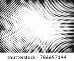 radial dot pattern or halftone... | Shutterstock .eps vector #786697144