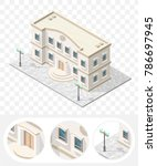 isometric high quality city... | Shutterstock .eps vector #786697945