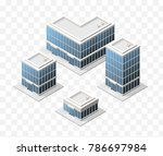 set of 4 isometric high quality ... | Shutterstock .eps vector #786697984