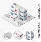 set of isolated high quality... | Shutterstock .eps vector #786700264