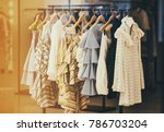 modern woman clothing in a... | Shutterstock . vector #786703204