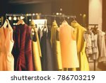 modern woman clothing in a... | Shutterstock . vector #786703219