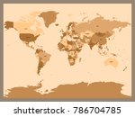 old vintage or retro style map... | Shutterstock .eps vector #786704785
