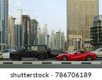 dubai  uae   march 18   traffic ... | Shutterstock . vector #786706189