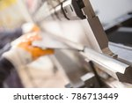 Small photo of the worker is bending metal.