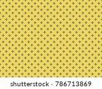 seamless cross pattern vector.... | Shutterstock .eps vector #786713869