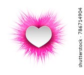 shaggy bright fluffy ball with...   Shutterstock .eps vector #786714904