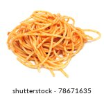 Closeup Of A Pile Of Spaghetti...