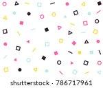 vector hipster pattern... | Shutterstock .eps vector #786717961
