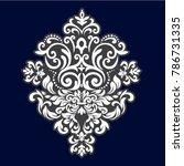vintage pattern in baroque... | Shutterstock .eps vector #786731335