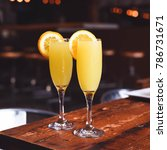 brunch mimosa set up with... | Shutterstock . vector #786731671