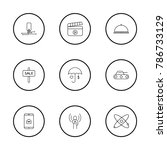 industry icons set with concert ... | Shutterstock . vector #786733129