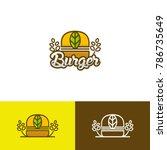 burger vegan logo   Shutterstock .eps vector #786735649