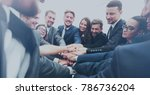 large business team showing... | Shutterstock . vector #786736204