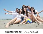 group of happy young people in... | Shutterstock . vector #78673663
