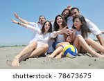 group of happy young people in... | Shutterstock . vector #78673675