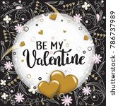 be my valentine template for... | Shutterstock .eps vector #786737989