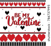 be my valentine template for...   Shutterstock .eps vector #786737995