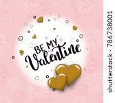 be my valentine template for...   Shutterstock .eps vector #786738001