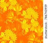 watercolor seamless pattern... | Shutterstock . vector #786743959