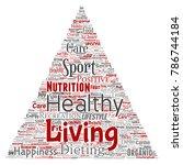 vector conceptual healthy... | Shutterstock .eps vector #786744184
