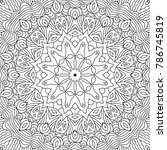 coloring page for adults. a... | Shutterstock .eps vector #786745819