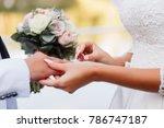 Wedding Ceremony. The Bride Don ...