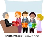 banner,boss,business attire,cartoon,cartoon people,clip art,clipart,copyspace,corporate attire,cutout,employee,eps,executive,farewell party,female