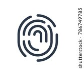 fingerprint icon. isolated...