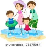 illustration of a family... | Shutterstock .eps vector #78675064
