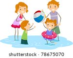 illustration of a family outing ... | Shutterstock .eps vector #78675070
