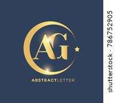 ag  logo design template.... | Shutterstock .eps vector #786752905
