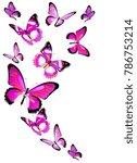 beautiful pink butterflies ... | Shutterstock .eps vector #786753214