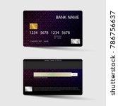 modern credit card template... | Shutterstock .eps vector #786756637