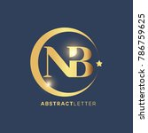 nb logo design template. luxury ... | Shutterstock .eps vector #786759625