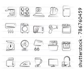 household appliances and... | Shutterstock .eps vector #786760459