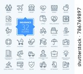 Insurance   Outline Icon Set ...