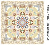 decorative colorful ornament on ... | Shutterstock .eps vector #786774589
