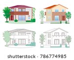 illustration of the house | Shutterstock .eps vector #786774985