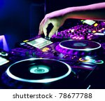 dj mixes the track in the... | Shutterstock . vector #78677788