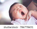 cute asian newborn baby girl... | Shutterstock . vector #786778651