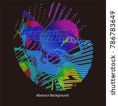 abstract vector background dot...   Shutterstock .eps vector #786783649