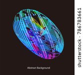 abstract vector background dot... | Shutterstock .eps vector #786783661