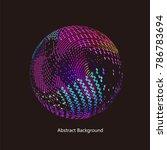 abstract vector background dot... | Shutterstock .eps vector #786783694