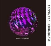 abstract vector background dot...   Shutterstock .eps vector #786783781