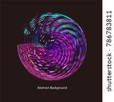abstract vector background dot...   Shutterstock .eps vector #786783811