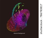 abstract vector background dot... | Shutterstock .eps vector #786783817