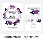 wedding card invitation | Shutterstock .eps vector #786784699