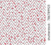 zig zag background with red... | Shutterstock .eps vector #786789925