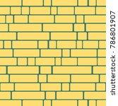 seamless texture of a brick... | Shutterstock . vector #786801907